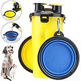 RCruning-EU Bottiglia d'Acqua per Cane Portatile Cani Gatto Animali,2 Silicone Ciotola Pieghevole per Cane Abbeveratoio Porta