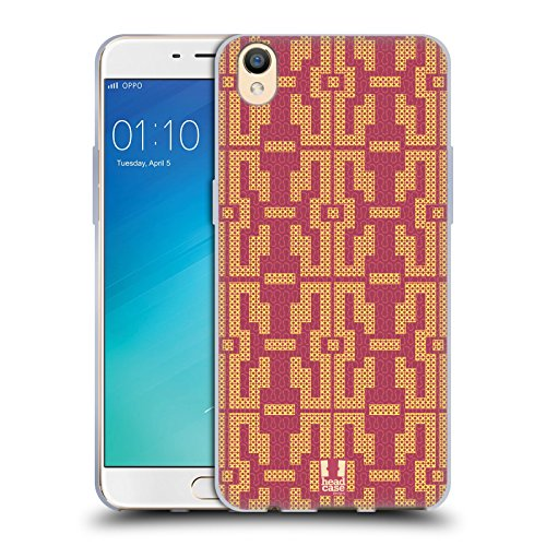 Head Case Designs Point Jaune Glam De Amazon Étui Coque en Gel molle pour Oppo R9 / F1 Plus