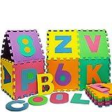 Puzzlematte 86 tlg. – Kinderspielteppich Spielmatte Spielteppich Schaumstoffmatte Matte bunt - 5