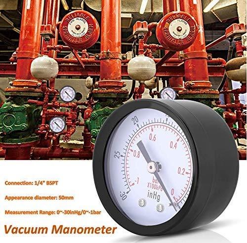 Manómetro de vacío de Metal,De color negro,Manómetro de Presión...