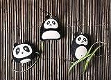 Lot de 3 figurines Pandas - Accessoires pour mobile ou suspension - Décoration bébé ou enfant