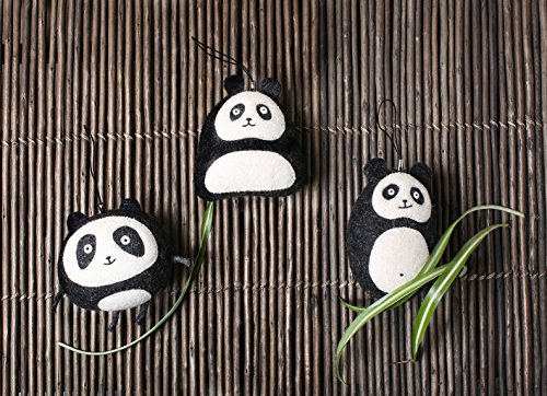 Panda Mobile (Set 3Figuren Pandas-Zubehör für Mobile oder Hängeleuchte-Dekoration Baby oder Kinder)