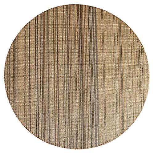 Teppich Teppich Persönlichkeit Runde Teppich Farbe Hanf Teppich Infinity Foyer Schlafzimmer Bodenmatte Dekoration (größe : 100cm) (Infinity-teppich)