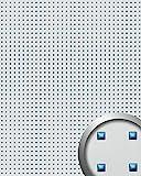 Wandpaneel Wandplatte WallFace 10050 3D QUAD Quadrat Dekor Design selbstklebend silber blau   2,60 qm