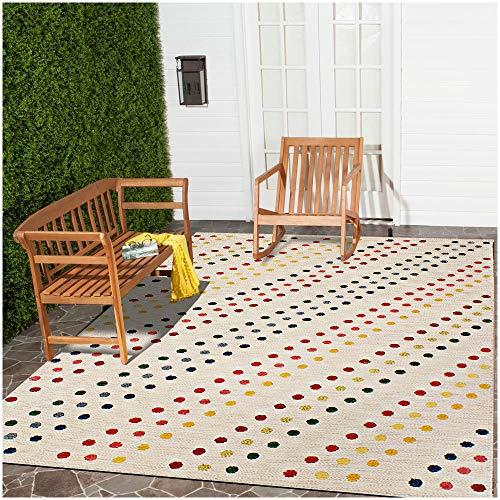 Rugsville Moderner Teppich Malicia gepunktet, handgemacht, Wolle und Jute, 152 x 2,4 m, elfenbeinfarben -