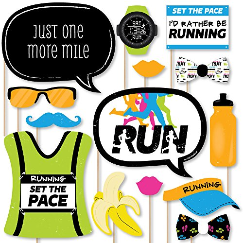 Big Dot of Happiness Set Die Pace – Laufen – Track, Cross Country Oder Marathon Party Foto Booth Props Kit – 20 Zählen