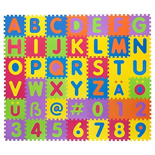 Puzzlematte für Babys & Kinder, 106 Teile, zertifizierter schadstofffreier Lernteppich aus Schaumstoff
