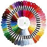 SOLEDI Stickgarn Embroidery Floss multifarben weicher Baumwolle perfekt fürBracelets Stickerei Basteln Crafts Set Basteln Leisure Arts Kreuzstich 8m 6-fädig Threads