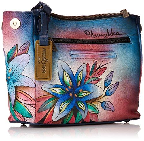 Anuschka cuir peint à la main , l'épaule fronde sac à main pour les femmes , cadeau de luxe 525 LLY-D Multicolore - Luscious Lilies