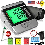 Dr Trust (USA) Goldline Fully Automatic TALKING Blood Pressure Monitor with 3 COLOR HYPERTENSION BACKLIGHT & Dr.Trust Digital Thermometer Free (Includes Batteries, Power Adapter, Carry Bag)