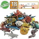 Animal marino, 18 paquetes de juguetes de goma de baño,Se puede...