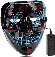 AIWOGEP Halloween LED Máscaras,Mascaras de Halloween,Craneo Esqueleto Mascaras,para la Navidad Halloween Cosplay Grimace...
