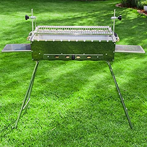 Mangal Stainless Steel Barbecue Grill Kebab Grill shashlik Ideal Garden