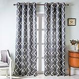 NAPEARL Jacquard Style Fashion Modern Simple Bedroom Curtain (Grey, 66x54)