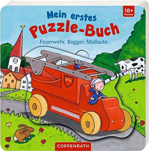 Mein erstes Puzzle-Buch: Feuerwehr, Bagger, Müllauto Buch-Cover