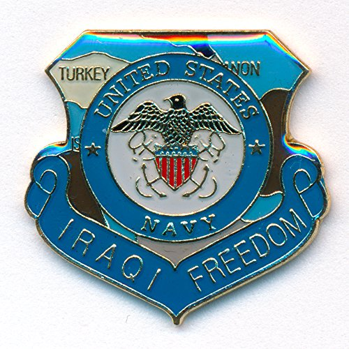 Flagge Friedenszeichen (Iraqi Freedom Emblem Flagge United States Navy USA Badge Pin Anstecker)