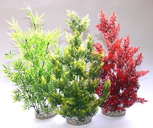 Kunststoffpflanze Aus Harz gegossener Kies-Standfuß