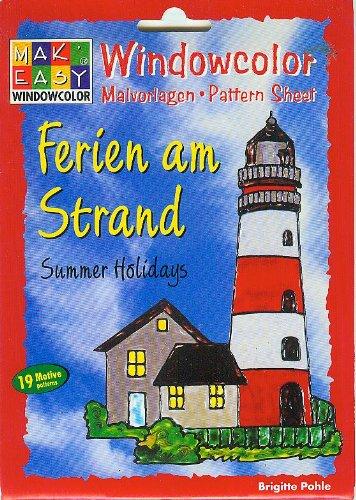 Windowcolor - Ferien am Strand - Malvorlagen - Pattern - Sheet - Summer Highlights - 19 Motive patterns - [Window Color, Mak Easy, Hobbidee 6115, ]