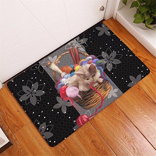 ADLFJGL 3D Katze & Hund Gedruckt Teppich Wohnzimmer Dekorative Teppich Digitaldruck Bodenmatten Wasserabsorbierende Matte Matten D Teppiche