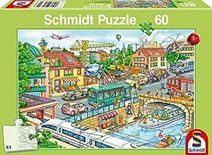 Schmidt Spiele 56309 - Puzzle Infantil (60 Piezas), diseño de vehículos y tráfico