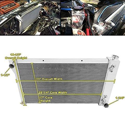 ALLOYWORKS Refroidissement du moteur en Aluminium Radiateur pour 1967-1972 Chevy /GMC C/K Pickup Truck C10 C20 K10 K20 Blazer (3 Rangées)