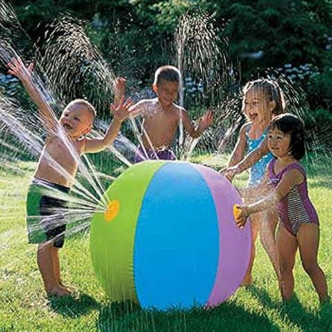 zjkc® sprinkler acqua palla spessa Eco-friendly in PVC gonfiabile da spiaggia SPLASH Spray Palloncino per bambini Outdoor Giardino Giochi d