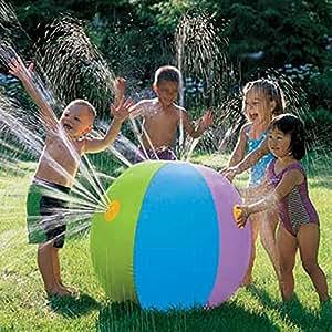 zjkc® sprinkler acqua palla spessa Eco-friendly in PVC gonfiabile da spiaggia SPLASH Spray Palloncino per bambini Outdoor Giardino Giochi d' acqua