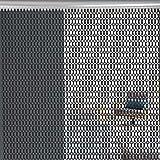 Zerone Cortina de la Cadena, Cortina de la Pantalla de la Cadena de la Puerta del Insecto del Metal de Aluminio para el Uso Comercial y la Decoración Casera, 90 x 210 cm (Negro)