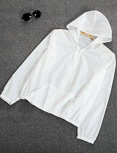 zhENfu Donna informale/GIORNALIERA ESTATE semplice mantello/Capes, solido Hooded Manica Lunga di poliestere regolare,One-Size,Arrossendo rosa White