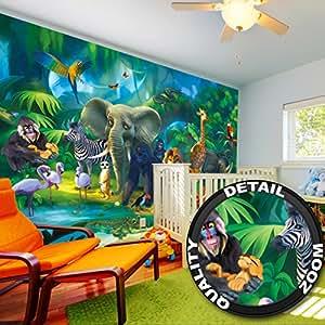 Poster fotografico per la stanza die bambini giungla degli for Decorazione stanza bambini