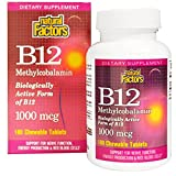 Natural Factors Methylcobalamin B12 (1,000mcg, 180 Sublingual Tablets)