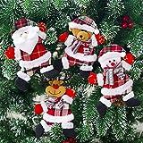 Weihnachtspuppe Ornament Weihnachtsmann Geformt Plüsch Anhänger Plüsch Tasche Ornament Puppe Spielzeug
