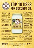 1 Litre Coconut Merchant Organic Raw Extra Virgin Coconut Oil