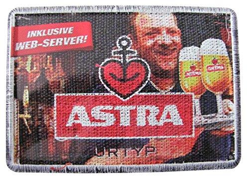 Astra Bier - Blechpostkarte - Web-Server - 14,5x10 cm - Bier-server