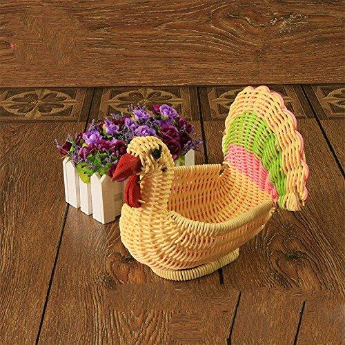 XBRles jouets _ tissé à la main le rotin panier contenant des jouets panier famille hostel trim mis pastoral stockage style, belle et durable,001