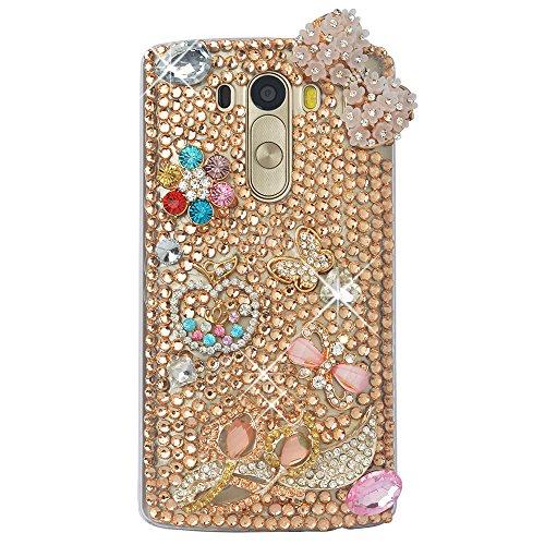 Spritech(TM) Hohe Qualität Strass Schutzhülle LG G5 Case Cover Bunte PC Material Muster Stylisches Designer Case echten Kristallen Handy Tasche Etui (Handys Sprint)