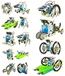 mini solar robotic toys that are fun to play with and educational. It feature all snap together Plastic parts, Solar Panel And Accessories. It is incredibly east to assemble the 14 different working models Including a multitude of comical and functio...