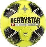 Derbystar Erwachsene Brillant TT AG Fussball, gelb schwarz Silber, 5