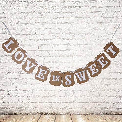 Pixnor L'amore è dolce sposa Vintage Bunting Banner foto stand puntelli segni Garland acquazzone Bridal Wedding Decoration