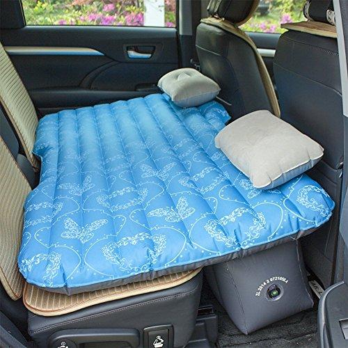 JOTOM Auto Aufblasbares Bett Luftmatratze Auto Reisen Air Bett inkel Auto Kissen Universal (Ozean-blauer Schmetterling) (Matratze Air-für-sofa-bett)