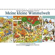 Meine kleine Wimmelwelt (Wandkalender 2018 DIN A4 quer): Lustige Wimmelbilder für Kinder (Monatskalender, 14 Seiten )