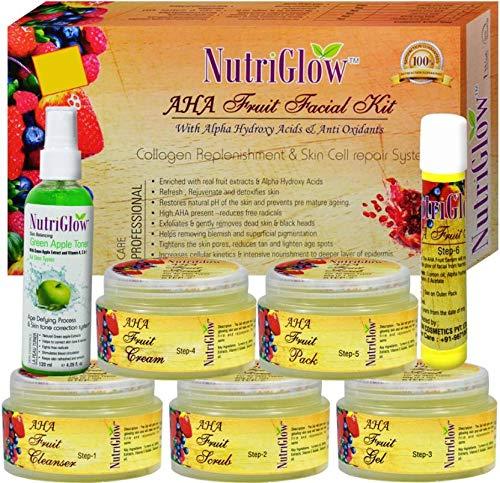 NutriGlow Facial Kit For Women/Glowing Skin/Cleaning/All skin type (AHA Fruit)