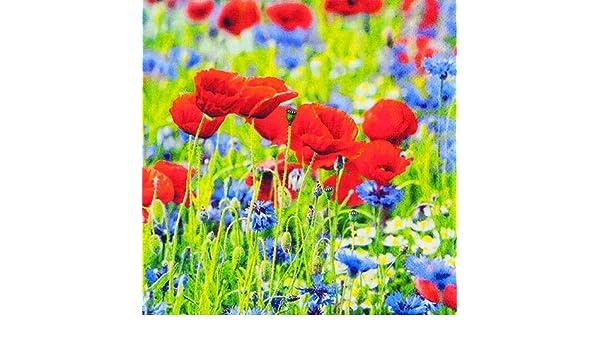 20 Servietten Sonnige Mohnblumen//Blumen//Sommer 33x33cm