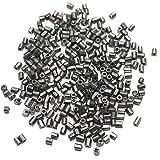 Beadsnfashion 2 Cut Metallic Silver Seed...