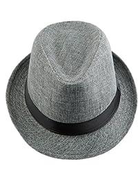 78032ae71e9 Shanxing Fedora Hats for Men Trilby Hat Panama Style Summer Beach Sun Jazz  Cap