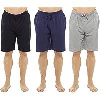 Keanu Mens 3 Pack Lounge Shorts Cotton Pyjama Short Trouser Bottoms Jersey Night Wear Summer Sizes M-3XL