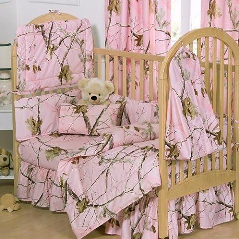 Realtree APG Pink Crib Bedskirt