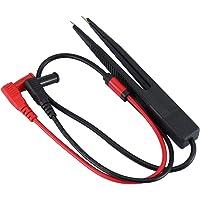 Nero e Rosso fengzong 2 PCS Sonda per puntali in Rame Acciaio Inossidabile 0.7mm Ago 4mm Jack Ago per Piercing per Strumento multimetro Nero//Rosso