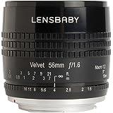 Lensbaby Velvet 56 Canon EF / Porträt und Makro Objektiv / ideal für samtige Bokeh-Effekte und kreative Unschärfe / Brennweite 56 mm, Blende f/1,6 / 1:2 Makro Vergrößerung mit 13 cm Naheinstellgrenze / passend für Canon Systemkameras und Spiegelreflexkameras