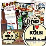 I love Köln | Geschenk Idee Männer | Geschenkideen | I love Köln | INKL. Markenbuch | Männer Set | Geschenk Mutter Köln | mit Held der Arbeit Flaschenöffner, Bier, Schnaps und mehr